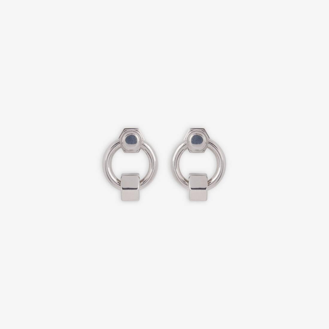 Display zoomed version of screw round earrings 2