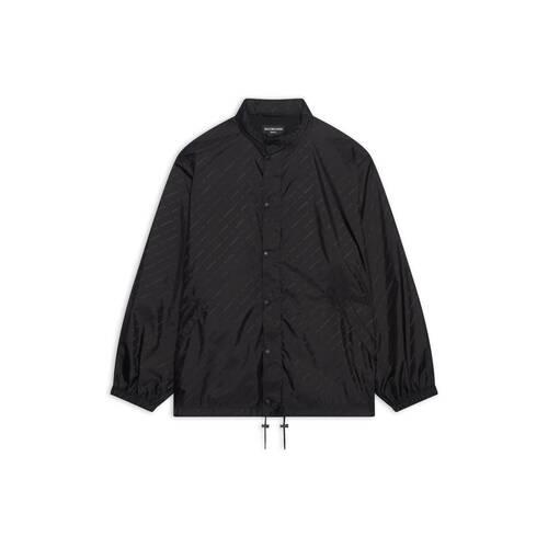 allover logo rain jacket