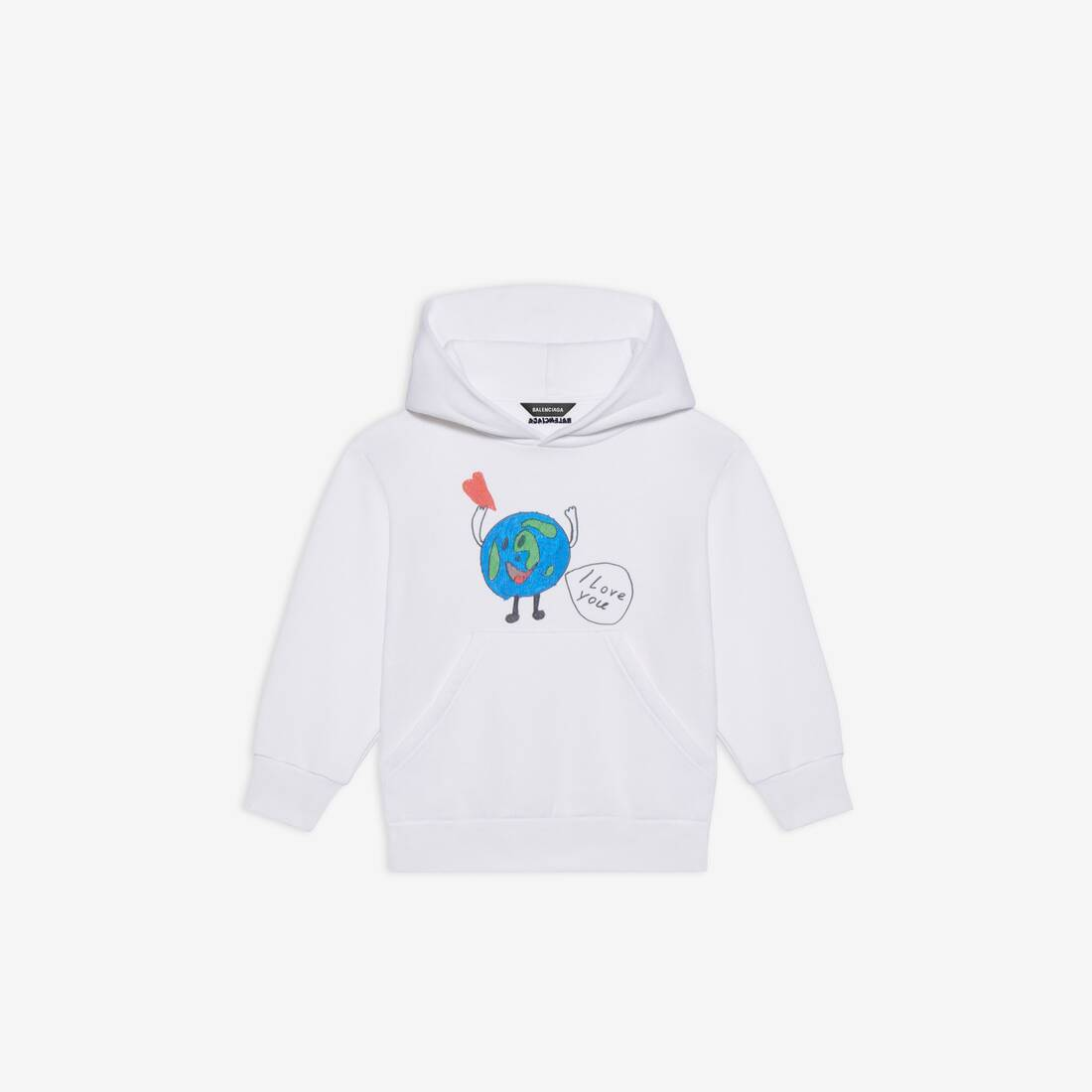 Display zoomed version of kids - love earth hoodie 1