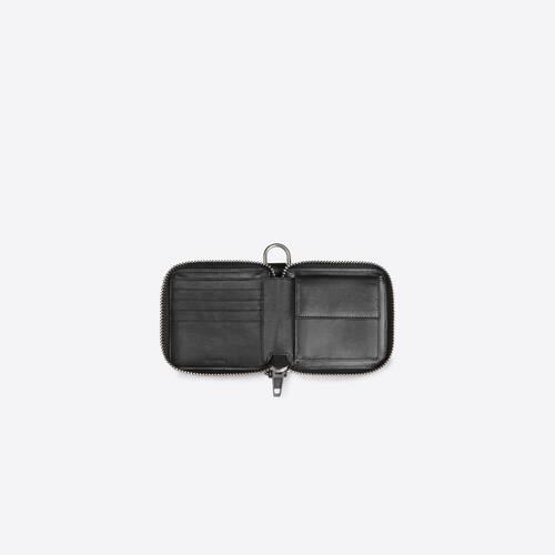 bondage zip around square wallet
