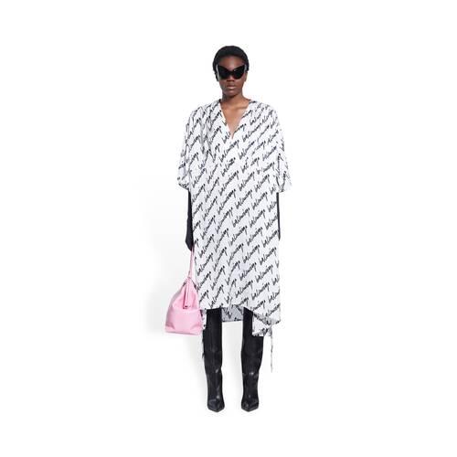 new scribble oversized v-neck 드레스
