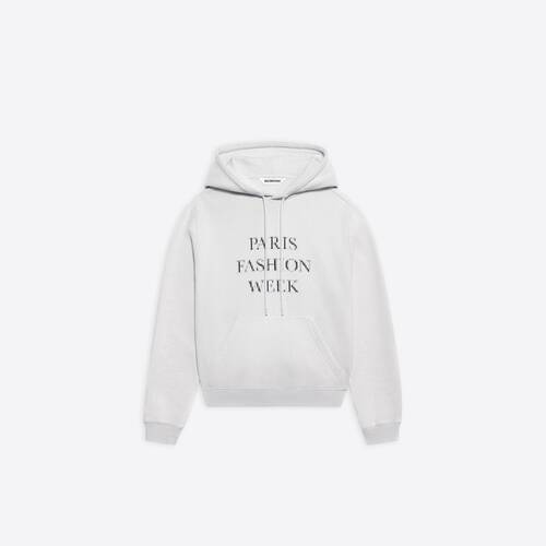 fashion week shrunk hoodie