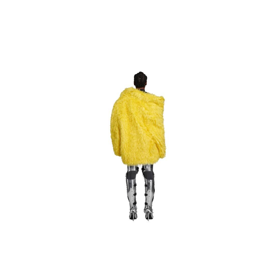 Display zoomed version of off shoulder fake fur jacket 5