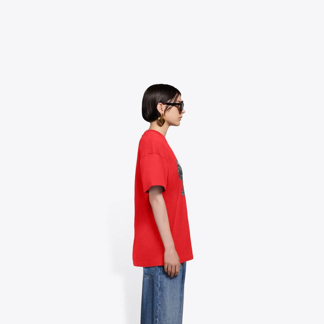 Display zoomed version of real balenciaga medium fit t-shirt  4