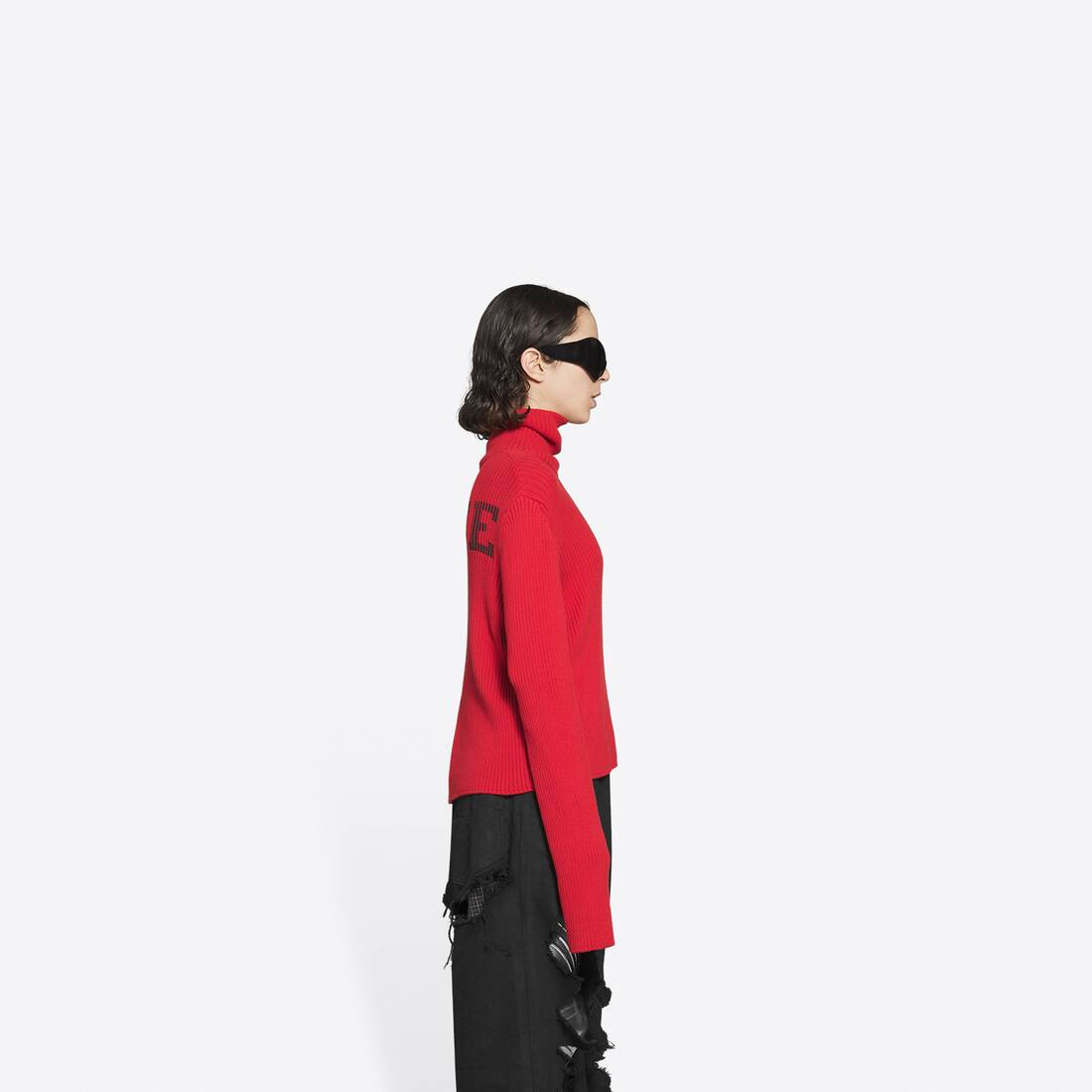 Display zoomed version of free washed out fitted turtleneck  4