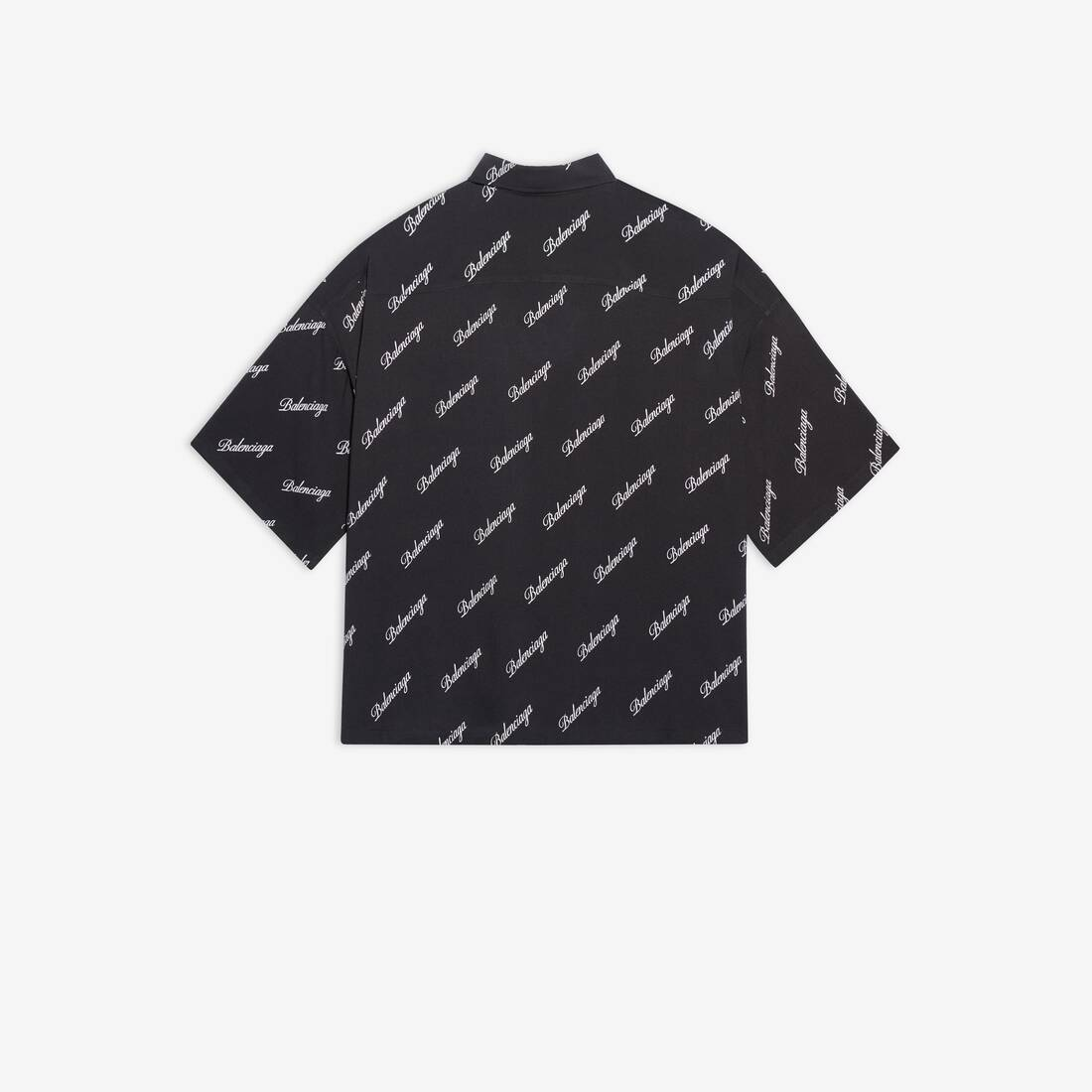 Display zoomed version of allover script logo vareuse shirt 2