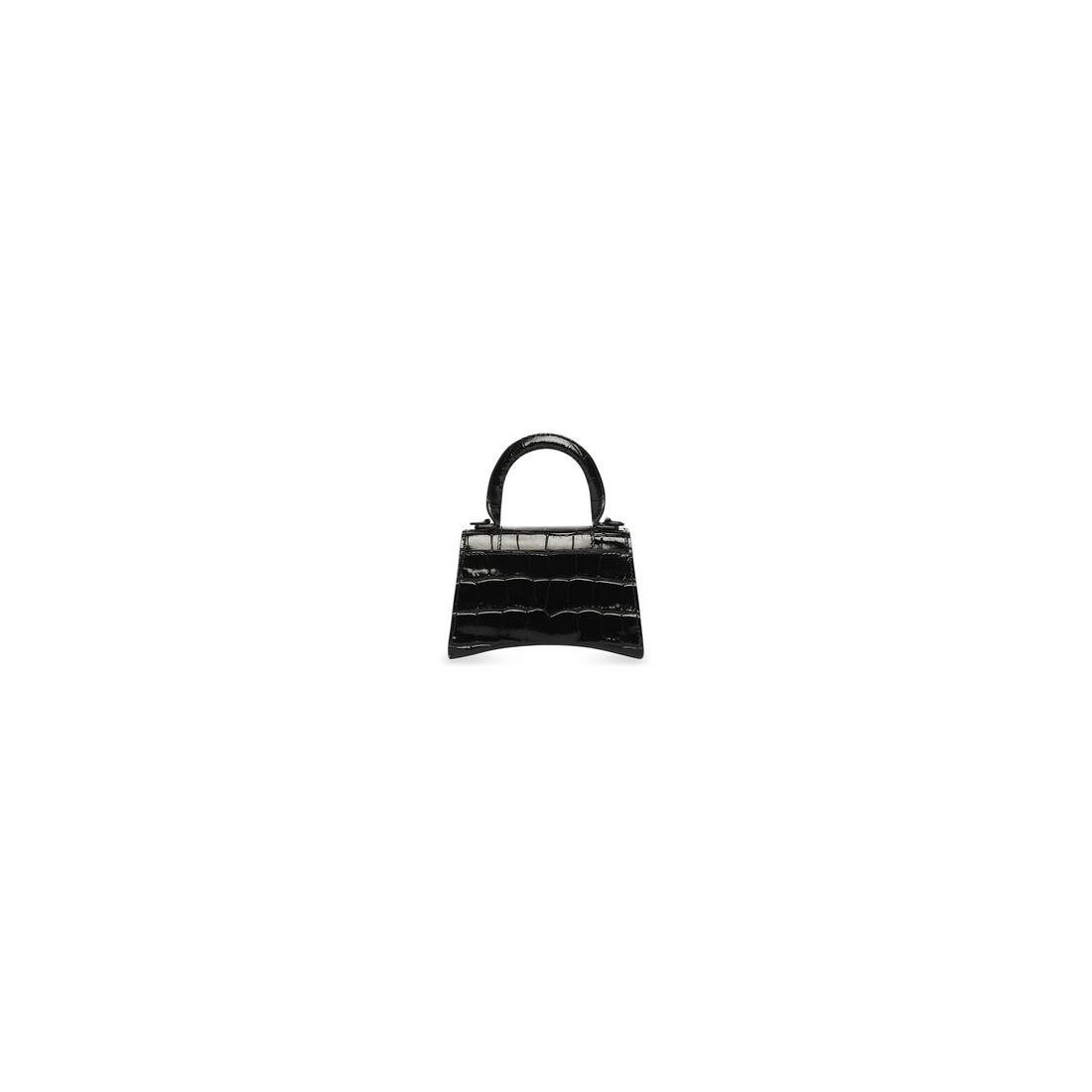 Display zoomed version of hourglass mini top handle bag with chain 2