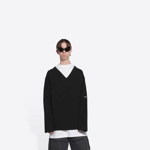 layered t-shirt v-neck sweater