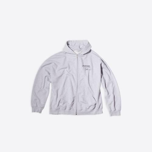 rupaul wide zip-up hoodie