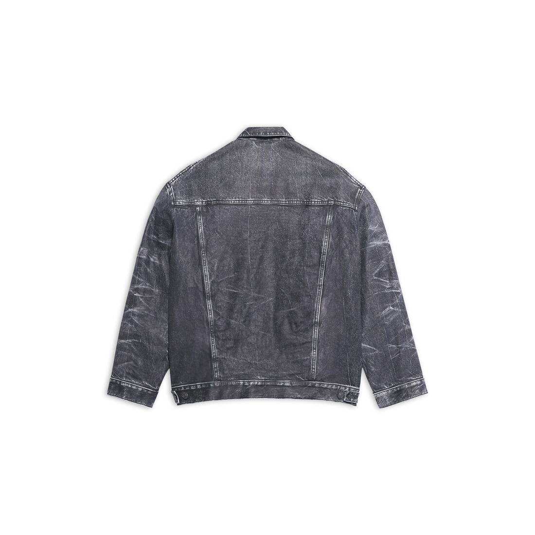 Display zoomed version of trompe-l'œil denim jacket 2