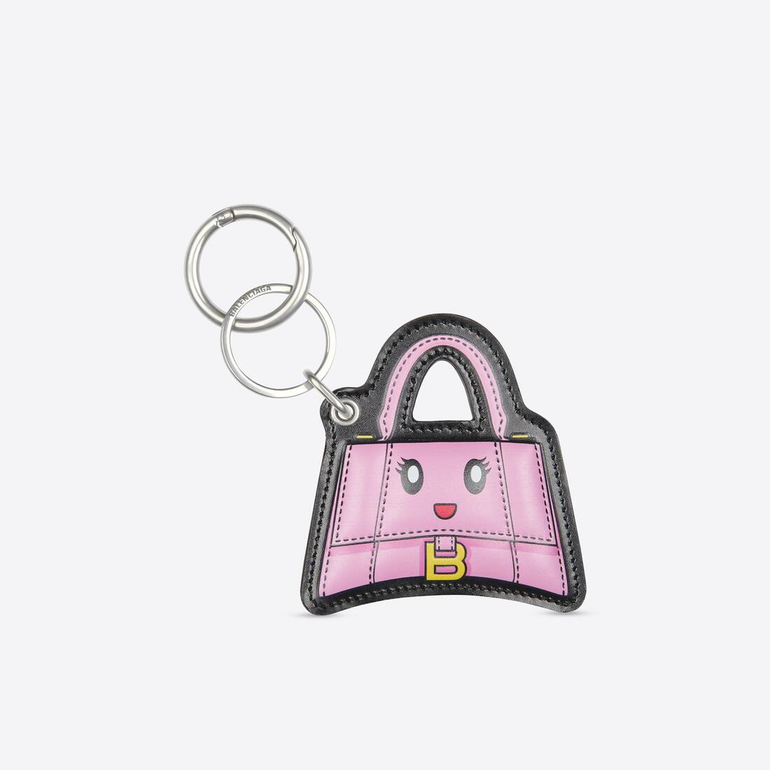 Display zoomed version of hourglass mirror keyring 1