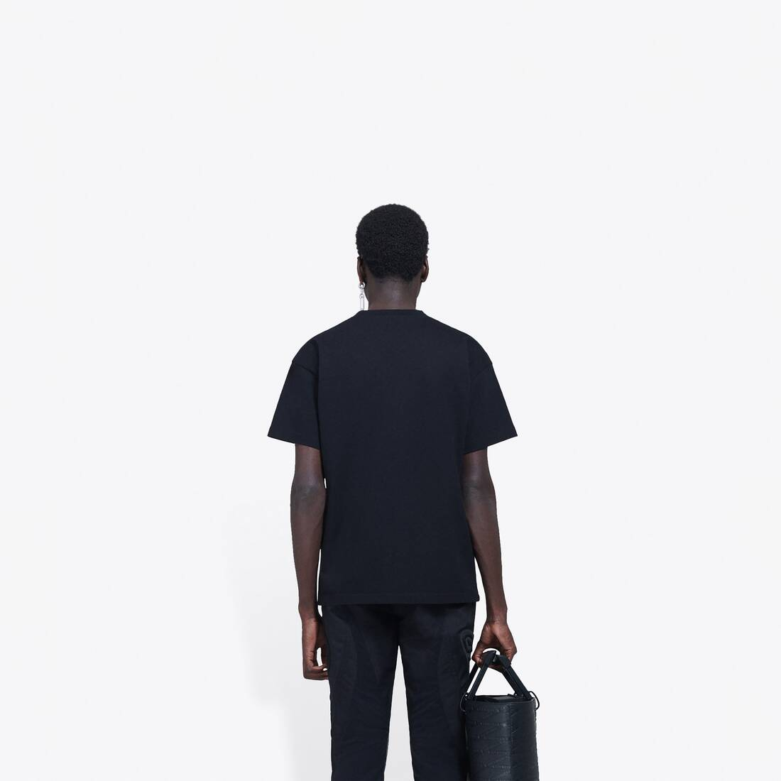 Display zoomed version of real balenciaga medium fit t-shirt 5