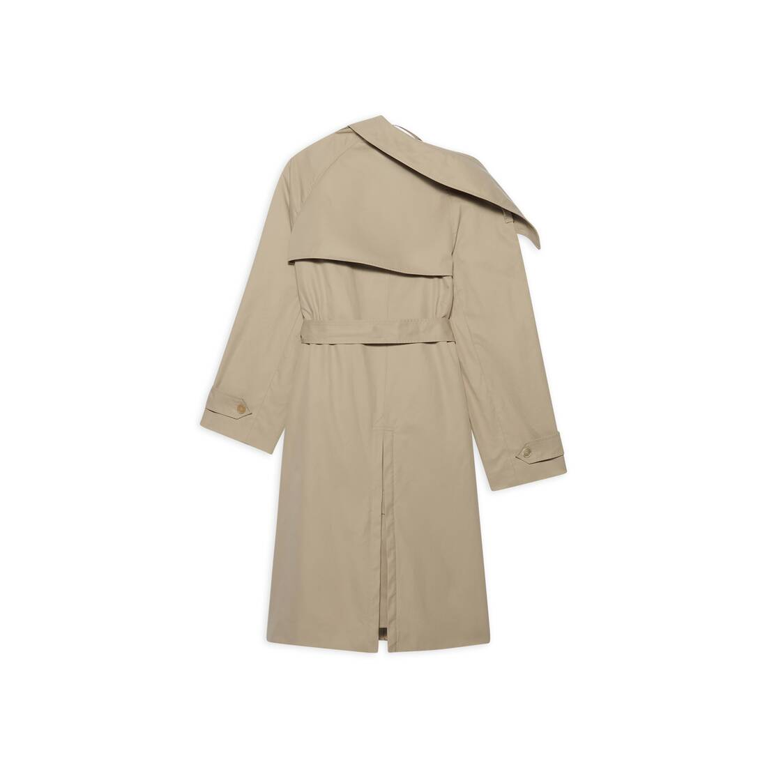Display zoomed version of off-shoulder trench coat 2