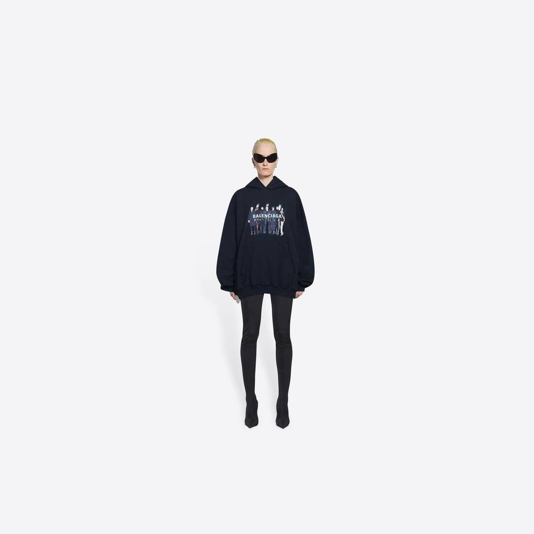 Display zoomed version of real balenciaga large fit hoodie 6