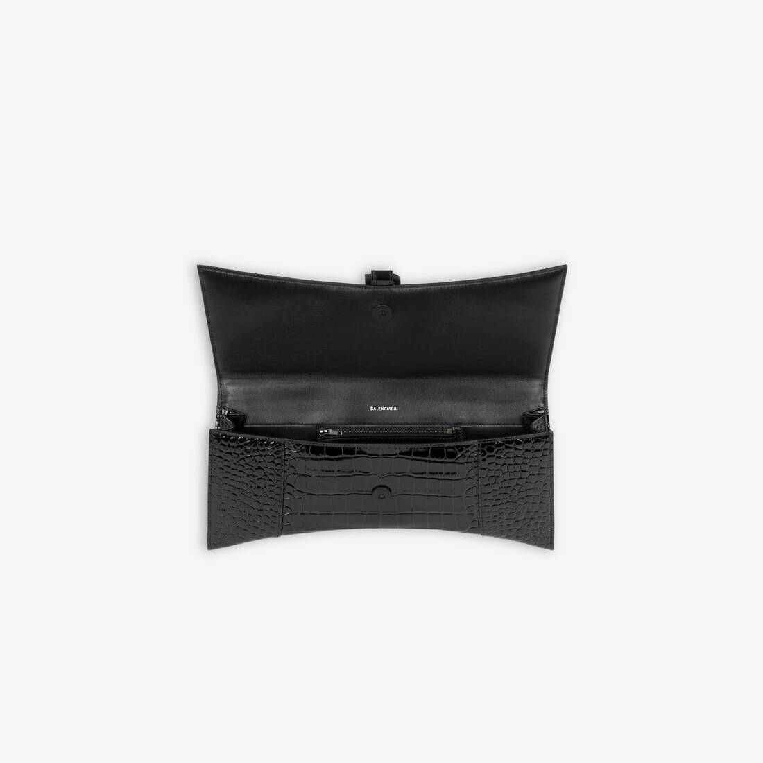 Display zoomed version of hourglass streched top handle bag 5
