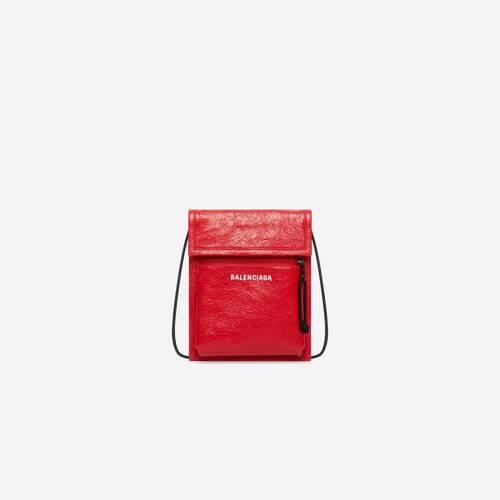 explorer pouch strap leather