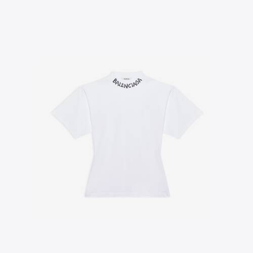 scribble logo curved t-shirt