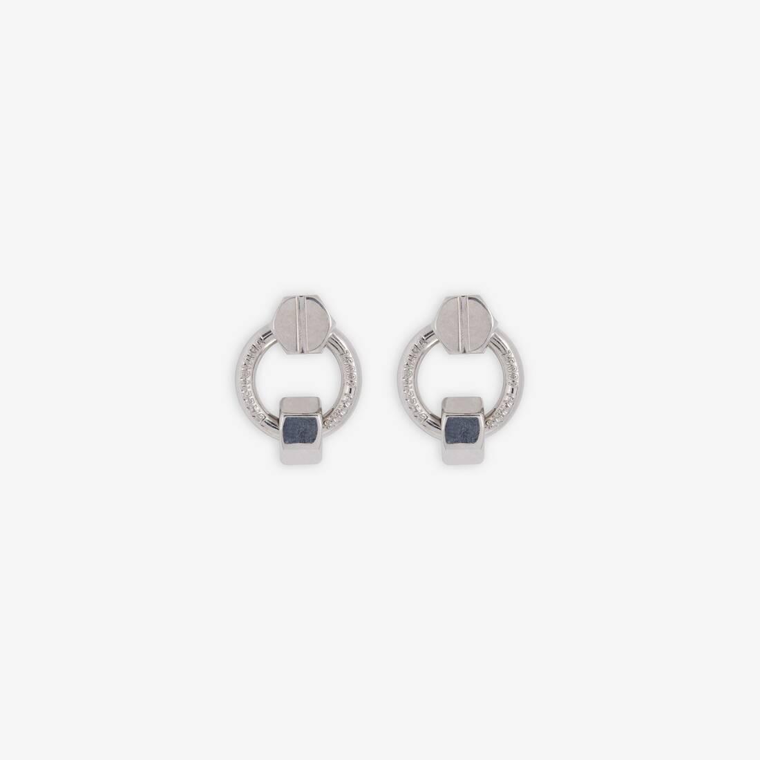 Display zoomed version of screw round earrings 1