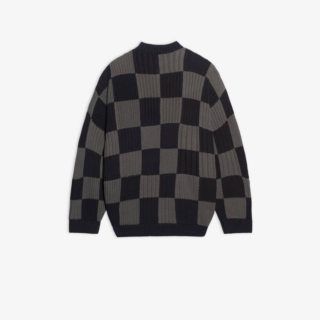 Display zoomed version of checkered crewneck 2
