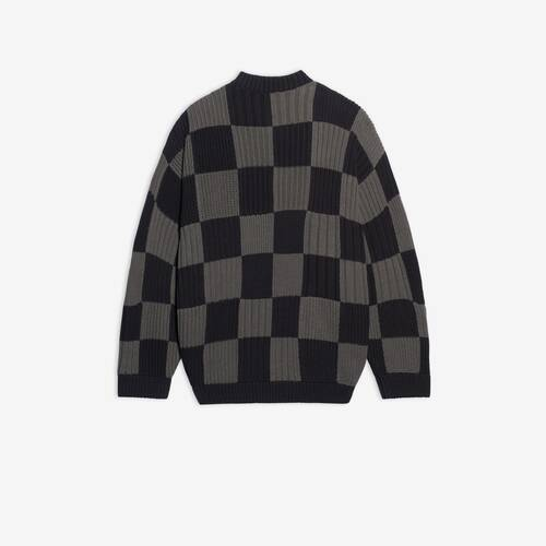 checkered crewneck