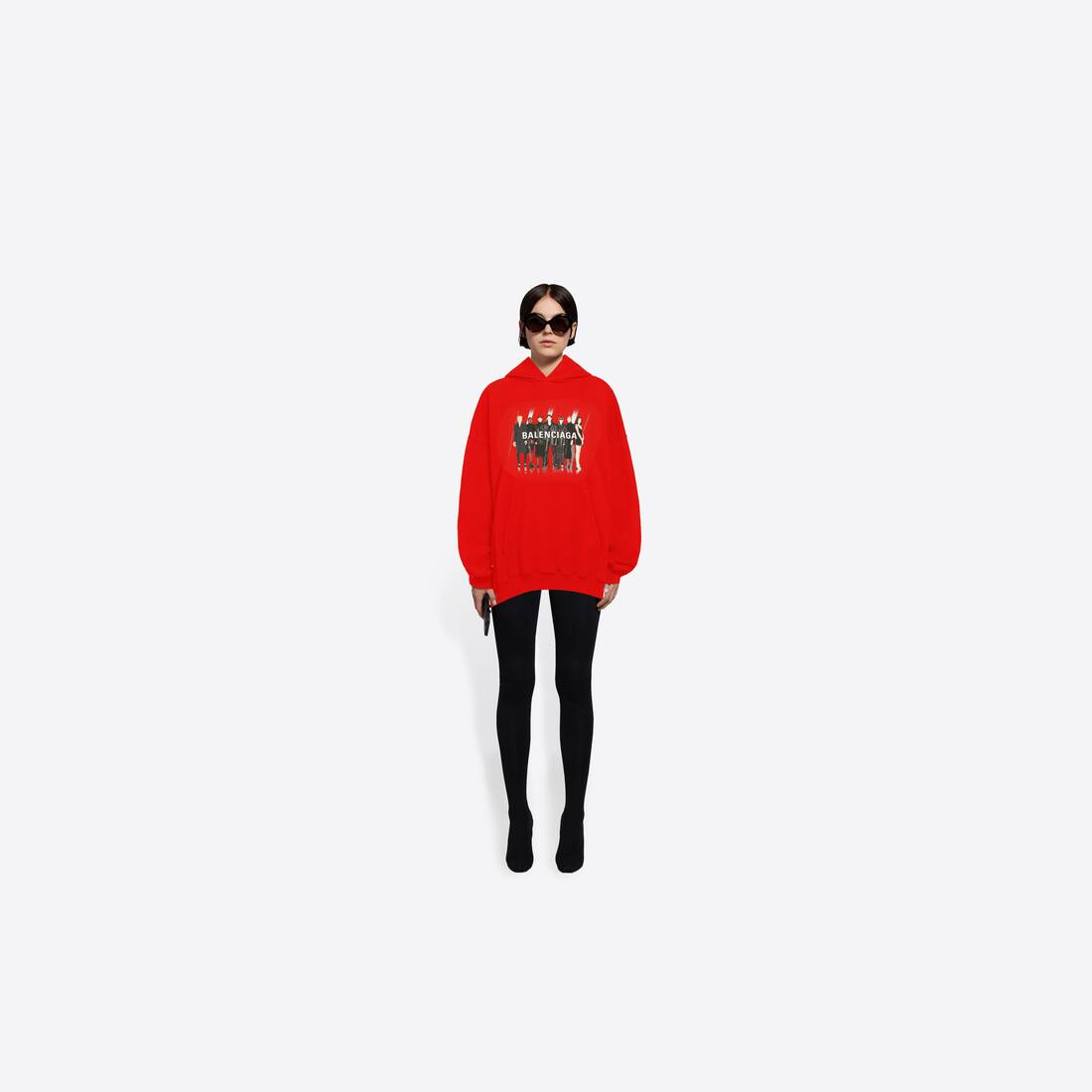 Display zoomed version of real balenciaga 1 large fit hoodie 6