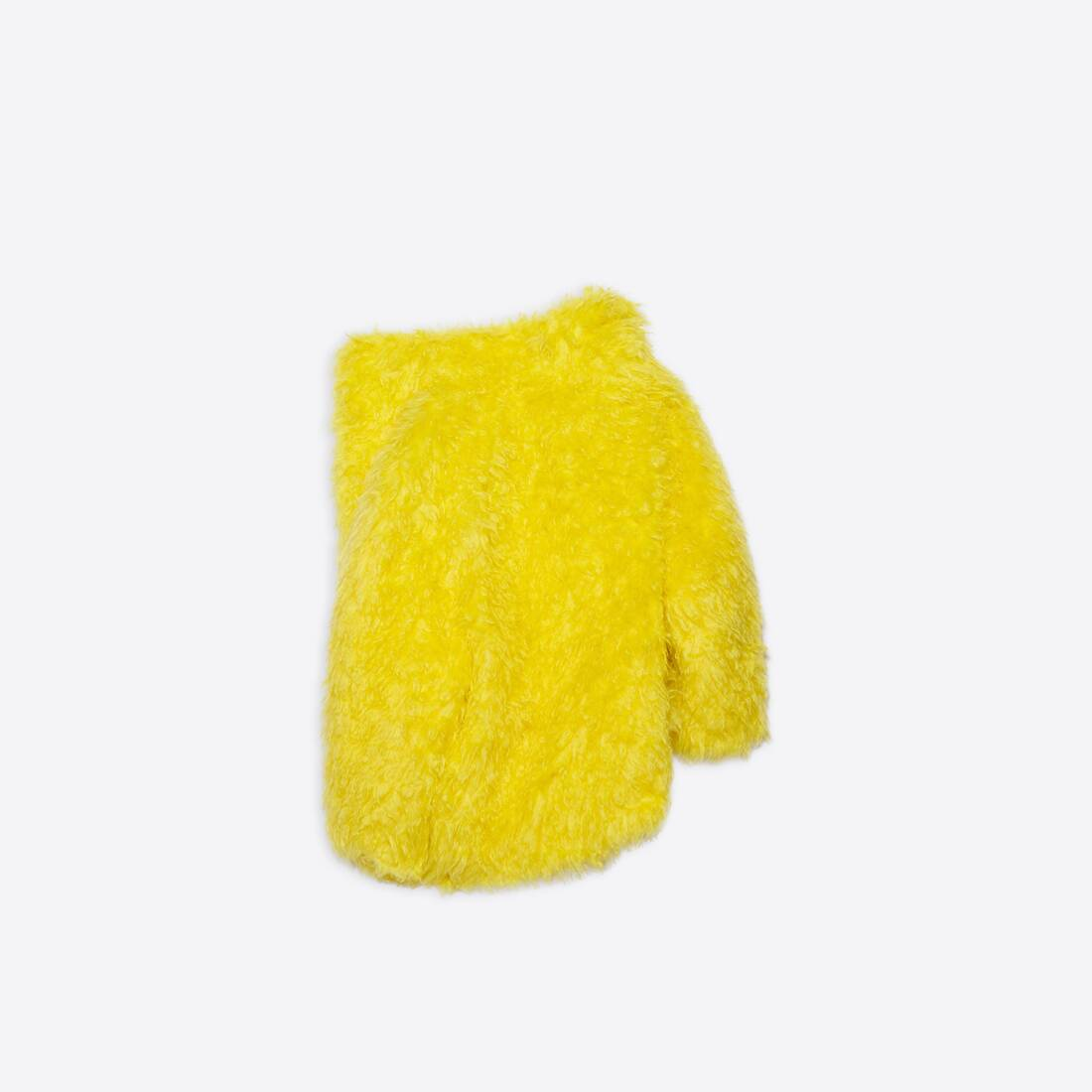 Display zoomed version of off shoulder fake fur jacket 2