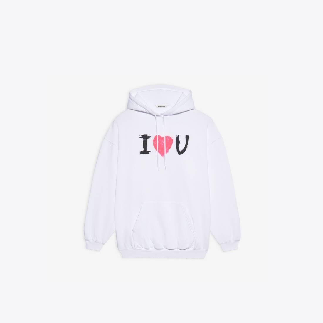 Display zoomed version of i love u medium fit hoodie 1