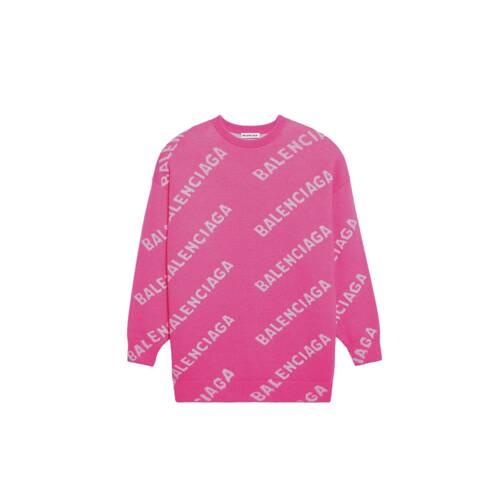 allover logo sweater