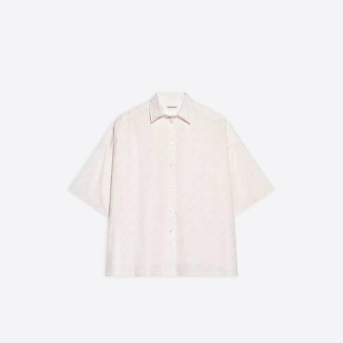 allover logo short sleeve vareuse shirt