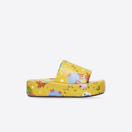puppies and friends print rise platform sandal