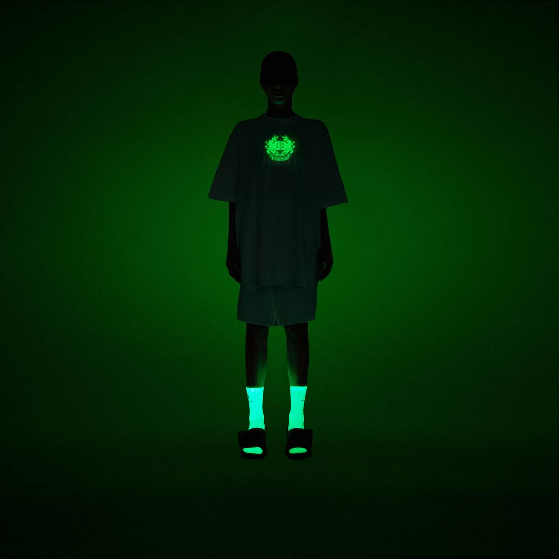 Display zoomed version of gitd lion's laurel boxy t-shirt 6