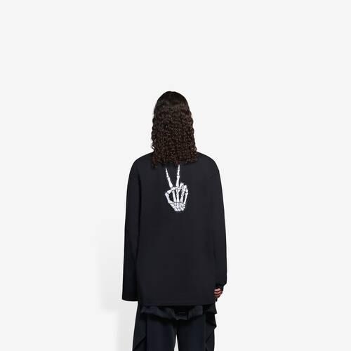 camiseta de manga larga drip peace flatground