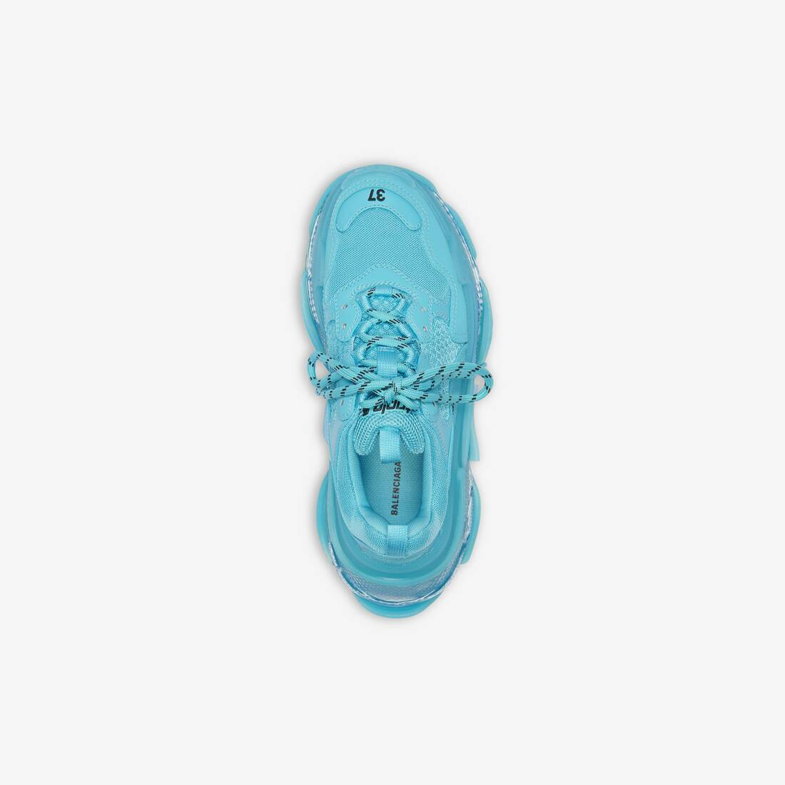 Display zoomed version of triple s clear sole sneaker 4