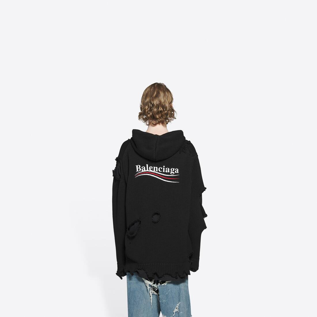 Display zoomed version of political campaign destroyed hoodie 4