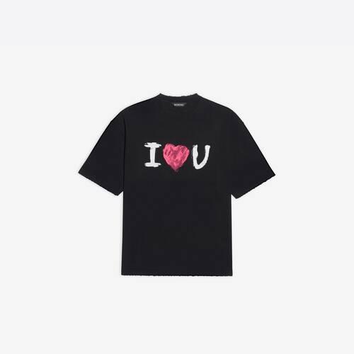 camiseta de ajuste mediano i love u