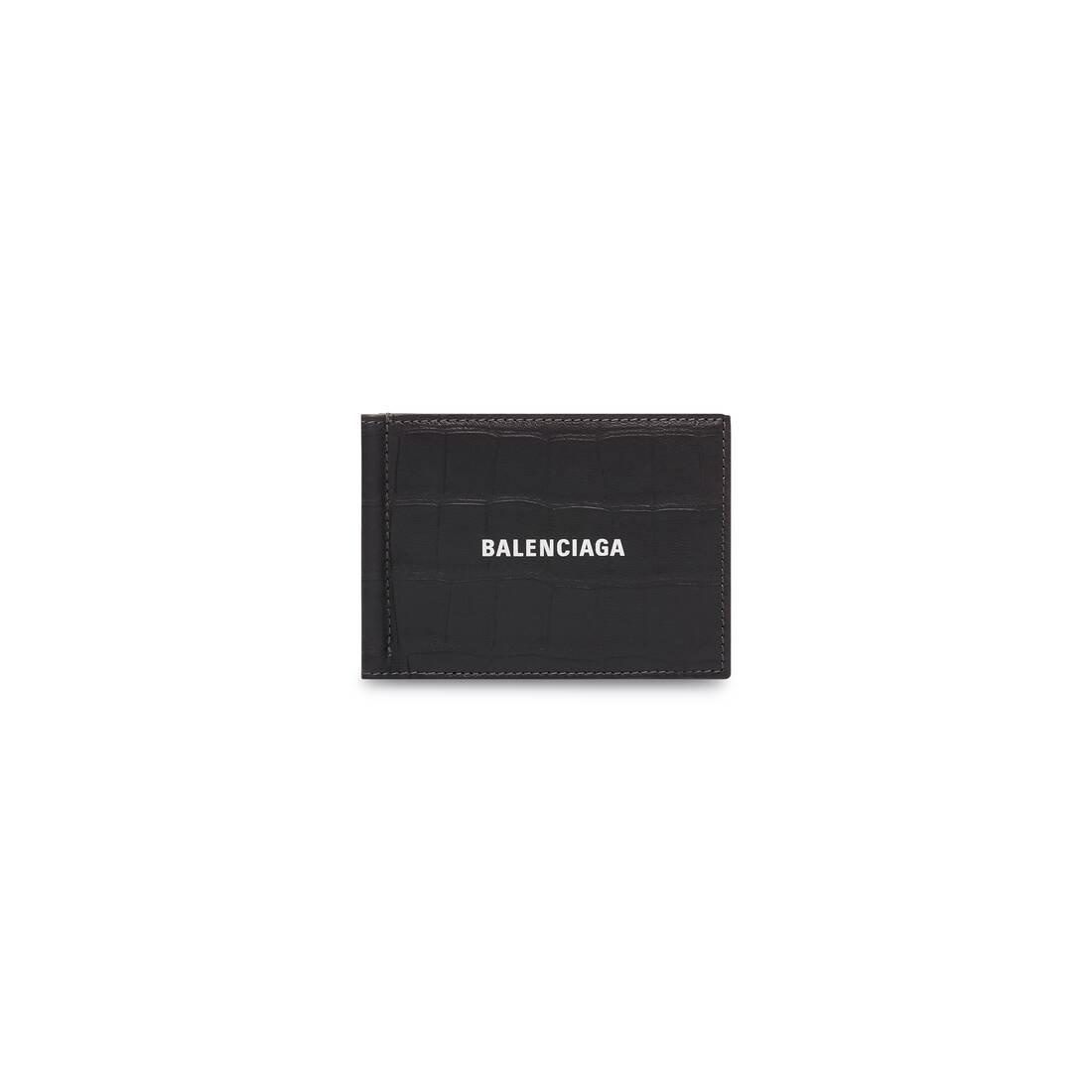 Display zoomed version of porte-cartes plié avec pince à billets cash 1