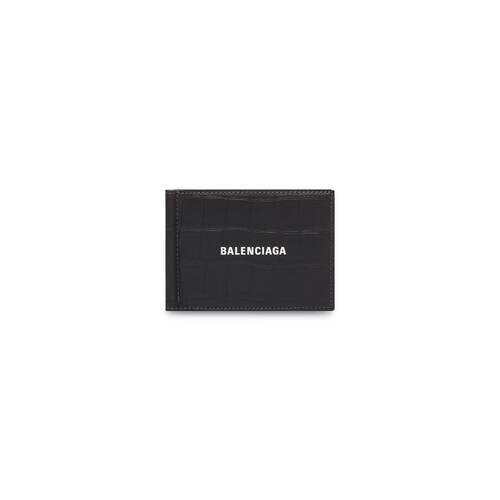 porte-cartes plié avec pince à billets cash