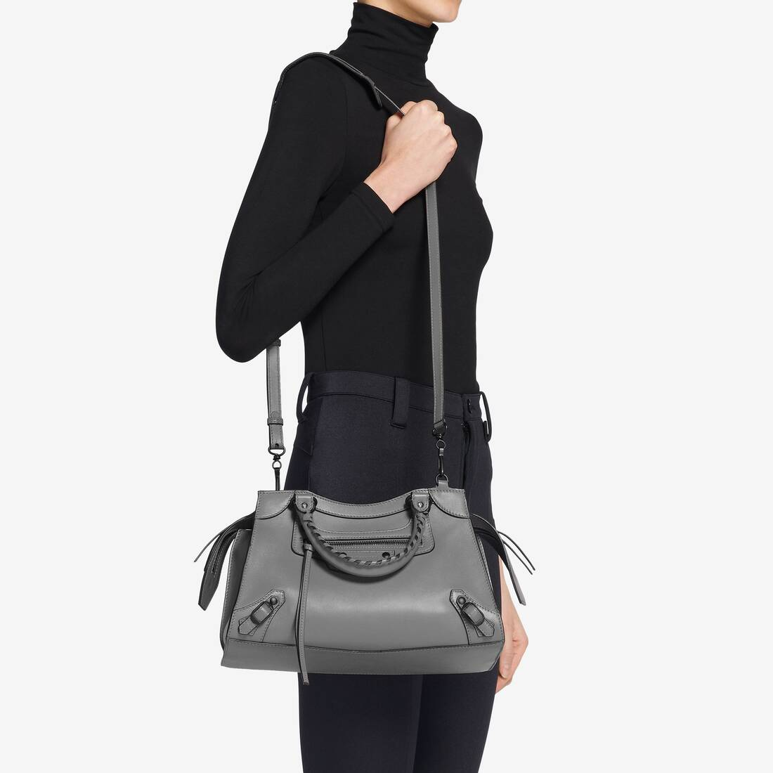 Display zoomed version of neo classic small top handle bag  6