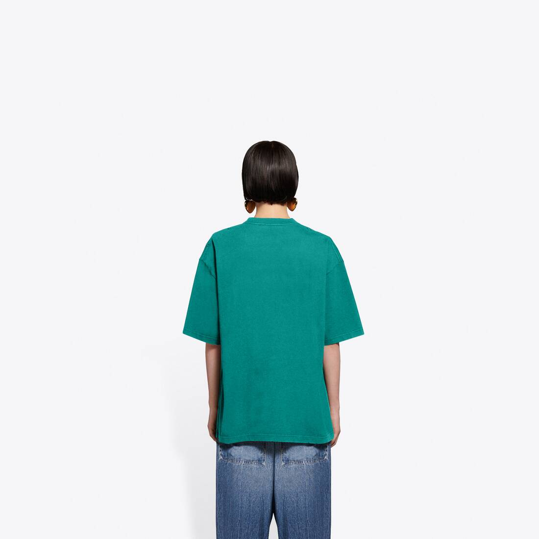 Display zoomed version of real balenciaga medium fit t-shirt  5